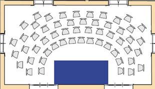 disposizione ad anfiteatro